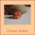 Tűzzománc gyűrű, Ékszer, Gyűrű,   A zománc mérete22mm, nemesacél állítható foglalatban, antiallergén. A zománc pontosan ille..., Meska