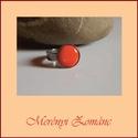 Tűzzománc gyűrű, Ékszer, Gyűrű,   A zománc mérete12mm, nemesacél állítható foglalatban, antiallergén. A zománc pontosan ille..., Meska