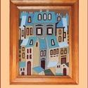 Tűzzománc kép , Otthon & lakás, Képzőművészet, Dekoráció, Kép, A zománc mérete: 290mmx220mm. A keret fa 25mm széles. Teljes mérete:370mmx300mm., Meska