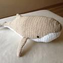 Moby a bébi bálna - bézs/fehér, Baba-mama-gyerek, Játék,  Moby a kicsi bálna nagyon kedves természetű. A nagy óceánok és tengerek vándora,aki minden bajba ju..., Meska