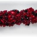 Piroska, Ékszer, Karkötő, Egyszerű alapra fűzött borzas karkötő, mely 23 féle különböző gyöngyből áll,a legkülö..., Meska