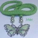 AKCIÓS!!! Vidám tavasz   , Egy nagyon egyszerű üde zöld gyöngy horgolt ny...