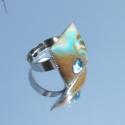 Fimo gyűrű 2., Állítható alapú négyszögletes gyűrű Sw-val...