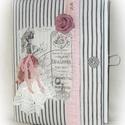 Vintage hölgy gyűrűs mappa  (füzet,napló) A4