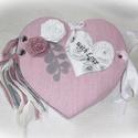 Rózsaszín szív alakú mini fotóalbum