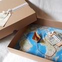 Meglepetés pénzátadó doboz, esküvő, nászajándék,eljegyzés, névnap,szülinap, Esküvő, Naptár, képeslap, album, Nászajándék, Ifjú házasoknak, nászajándéknak, eljegyzésre, utazásra gyűjtőknek ötletes pénzátadó. Lepd meg szíved..., Meska