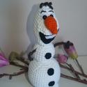 Horgolt Olaf!, Magas minőségű, vastag fehér fonalból készü...
