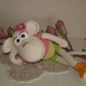 Édes horgolt maki majom!, Horgolással, 100% pamut fonalból készült majom...