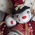 Amigurumi hóember fej karácsonyfadísz, dekoráció! , Dekoráció, Ünnepi dekoráció, Karácsonyi, adventi apróságok, Karácsonyfadísz, Horgolás, Kedves hóember fej, különböző díszítésekkel... Kiváló minőségű pamut fonalból... vatelinnel tömött,..., Meska