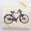 Kerékpár túra vagy tábor, - ez a biciklis pénztárca elkísér az úton, Táska, Pénztárca, tok, tárca, Neszesszer, Pénztárca, Pamut textilből készül ez a pénztárca, vagy kártyatartó.  Bélése hozzá illő bézs pamut textil, közöt..., Meska