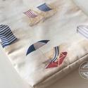 AKCIÓ! Balaton, tengerpart, strandolás! Vidám stílusos táska, Táska, Dekoráció, Szatyor, Válltáska, oldaltáska, Erős vászonból készítettem ezt stílusos strandtáskát. Bélése  pamut textil, közötte vatelin ad tartá..., Meska