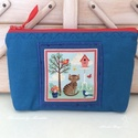 Cicás kozmetikai táska, neszesszer, irattartó , Pamut textilből varrtam ezeket a cicás kozmetika...