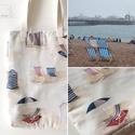 BRIGHTON tengerparti táska, válltáska , Táska, Válltáska, oldaltáska, Erős vászonból készítettem ezt stílusos táskát. Olyan mintha most is a Brightoni tengerparton pihenn..., Meska