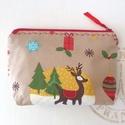 KÉSZETKISÖPRÉS AKCIÓ - Bambis kozmetikai táska, irattartó - Karácsonyra, Táska, Pénztárca, tok, tárca, Neszesszer, Prémium minőségű karácsonyi  pamut textil felhasználásával készült ez a kozmetikai táska. Bélése hoz..., Meska