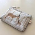 Bambis irattartó, pénztárca, Designer pamut textilből készült ez a Bambis ir...