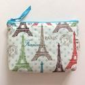 Eiffel torony,  világjáró irattartó pénztárca - Párizs , Táska, Neszesszer, Pénztárca, tok, tárca, Pénztárca, Pamut textilből varrtam ezt az Eiffel tornyos, irattartó pénztárcát. Belseje hozzáillő pamut textil...., Meska