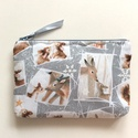 Bambi és mamája - pénztárca, irattartó, Táska, Pénztárca, tok, tárca, Neszesszer, Pénztárca, Prémium minőségű pamut textilből készült ez a pénztárca, irattartó. Használhatod az irataid tárolásá..., Meska