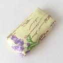 Levendulás zsebkendő tartó, Baba-mama-gyerek, Gyereknap, Levendula mintás pamut textilből készültek  ezek a zsebkendőtartók. Bélése, színben hozzáillő pamut ..., Meska