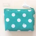 Almás pöttyös, zöld-fehér irattartó pénztárca, Prémium minőségű, designer textilből készít...