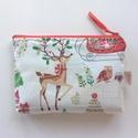 Karácsonyi Bambis, kétrekeszes pénztárca, irattartó neszesszer , Táska, Pénztárca, tok, tárca, Pénztárca, Neszesszer, Prémium minőségű pamut textil felhasználásával készült ez a kétrekeszes karácsonyváró pénztárca vagy..., Meska