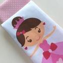 Hercegnős zsebkendő vagy szalvéta szett kis királylányoknak, Baba-mama-gyerek, Szépségápolás, Baba-mama kellék, Egészségmegőrzés, Pamut textilből készültek ezek a fehér - rózsaszín színű, hercegnős zsebkendők vagy szalvéták. 40 fo..., Meska