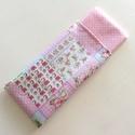 Rózsaszín virágos, patchwork - zsebkendő vagy szalvéta szett, Baba-mama-gyerek, Szépségápolás, Baba-mama kellék, Egészségmegőrzés, Rózsaszín virágos, patchwork mintás pamut textilből készültek ezek a zsebkendők vagy szalvéták. 40 f..., Meska