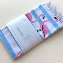 Flamingó mintás női zsebkendő vagy szalvéta szett, Baba-mama-gyerek, Szépségápolás, Baba-mama kellék, Egészségmegőrzés, Flamingó mintás pamut textilből készültek ezek a zsebkendők vagy szalvéták. 40 fokon mosható, vasalh..., Meska