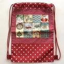 Mikulás zsák, hátizsák 2 az 1 - ben. , Táska, Baba-mama-gyerek, Hátizsák, Baba-mama kellék, Stílusos, egyedi Mikulás zsákot, hátizsákot készítettem, pamut taxtilből és egyedi designer textilbő..., Meska