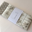Levendula virágos zsebkendő szett, Levendula virágos natur mintás és kis virágos ...