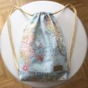 Világjáró fesztivál hátizsák, táska, Táska, Férfiaknak, Hátizsák, Világjáró fesztivál hátizsák készült vastag, térkép mintás pamut textilből, hozzáillő béléssel. Kial..., Meska