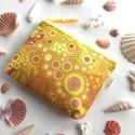 Sárga, narancs és piros buborékos, irattartó neszesszer, kozmetikai táska , Táska, Neszesszer, Pénztárca, tok, tárca, Pénztárca, Sárga, narancs és piros buborékos prémium textilből készült ez az irattartó pénztárca.  Bélése hozzá..., Meska