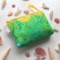 Türkiz kék, zöld és sárga buborékos,  irattartó neszesszer, kozmetikai táska , Táska, Neszesszer, Pénztárca, tok, tárca, Pénztárca, Türkiz zöld, sárga és kék buborékos, prémium pamut textilből készült ez az irattartó pénztárca. Bélé..., Meska