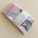 Flamingó mintás, pamut textil zsebkendő vagy szalvéta szett - akár egyedi monogram hímzéssel, Otthon & lakás, NoWaste, Textilek, Konyhafelszerelés, Flamingó mintás és pöttyös pamut textilből készültek ezek a zsebkendő vagy szalvéta szettek.  40 fok..., Meska