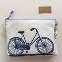 Bicikli és levendula mintás neszesszer - Artiroka design