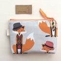 Róka Móka irattartó pénztárca - Artiroka design, Angol prémium pamut textilből készült ez a Ró...