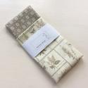 Natur levendula és kisvirág mintás bézs zsebkendő vagy szalvéta szett - NoWaste - Monogram hímzéssel is, NoWaste, Otthon & lakás, Lakberendezés, Lakástextil, Natur levendula és bézs kisvirág mintás pamut textilből készültek ezek a zsebkendők vagy szalvéták. ..., Meska