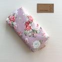Púder rózsaszin, angol rózsa mintás,  bélelt papírzsebkendő tartó - Artiroka design, Táska, Divat & Szépség, Táska, Pénztárca, tok, tárca, Zsebkendőtartó, Prémium pamut textilből készült ez az angol rózsa mintás papírzsebkendő tartó. Bélése hozzá illő  pa..., Meska