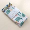 Süni és szines buborékok mintás, pamut textil zsebkendő vagy szalvéta szett  - NoWaste, Pamut textilből készültek ezek a süni és szí...