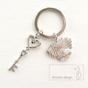 Bichon Havanese kutya mintás, kulcstartó - Artiroka design, Bichon Havanese kutya  mintás medálból és egy ...
