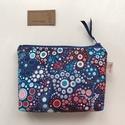 Kék - piros - türkiz buborékos irattartó pénztárca - Artiroka design