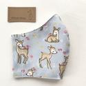 Bambi, őzike mintás prémium maszk, gyerek maszk, szájmaszk, arcmaszk prémium pamut textilből-  Artiroka design , Többször használatos, mosható, környezetbará...