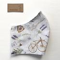 Levendula és bicikli mintás arcmaszk, szájmaszk, maszk -  Artiroka design