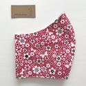 Piros virágos rét, pillangókkal - mintás prémium szájmaszk, maszk, arcmaszk - Artiroka design