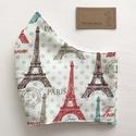 Párizs, Eiffel torony mintás arcmaszk, szájmaszk, maszk - Artiroka design, Többször használatos, mosható, környezetbará...