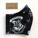Harry Potter fekete címeres  arcmaszk, szájmaszk, maszk - Artiroka design, Többször használatos, mosható, környezetbará...
