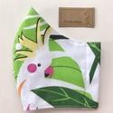 Papagáj és pálma levél mintás  arcmaszk, szájmaszk, maszk, gyerekmaszk - Artiroka design, Többször használatos, mosható, környezetbará...