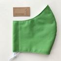 Egyszínű zöld, vagy föld színű arcmaszk  - szájmaszk, maszk, gyerekmaszk - Artiroka design