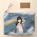 Szivárványfestő tündér lányka - irattartó pénztárca - Santoro - Artiroka design