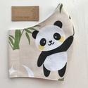 Panda mackó mintás arcmaszk, szájmaszk, maszk, gyerekmaszk-  Artiroka design