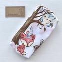 Róka, bagoly, mókus és őzike mintás bélelt papírzsebkendő tartó - Artiroka design